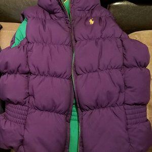 Little Pony girl's Ralph Lauren Down Polo Vest